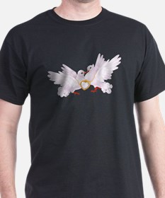 Love doves necklace T-Shirt