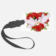 Love doves rose hearth Luggage Tag