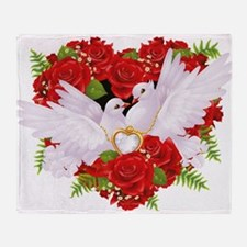 Love doves rose hearth Throw Blanket