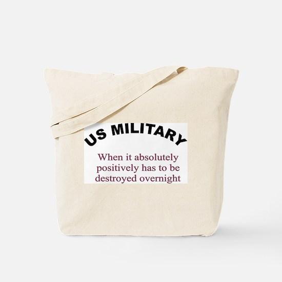 Unique Military theme Tote Bag