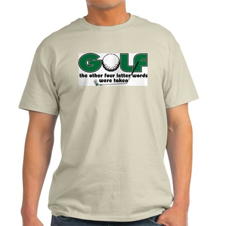 Golf Four Letter Words Light T-Shirt