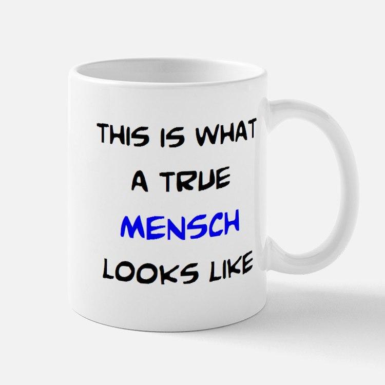true mensch Small Mugs