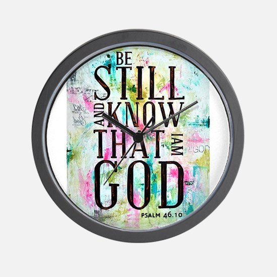 Psalm 46:10 Wall Clock