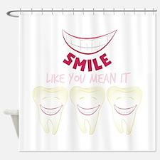 Smile Teeth Shower Curtain