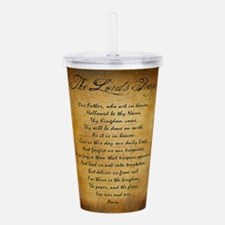 The Lords Prayer Acrylic Double-wall Tumbler