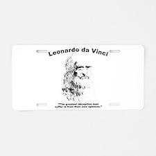Leonardo Deception Aluminum License Plate