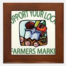 Support your Local Farmers Market Framed Tile