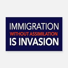 Imigration-Invasion Rectangle Car Magnet