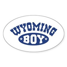 Wyoming Boy Oval Decal