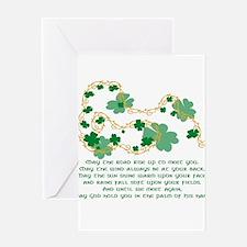 Cute Clovers Greeting Card