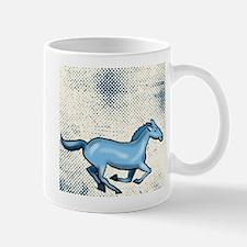 Running Blue Horse Graphic Mugs