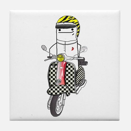 Lambretta Tile Coaster