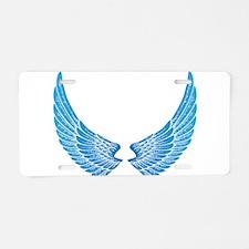 Angel wings Aluminum License Plate