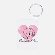 KiniArt Havanese Mom Aluminum Photo Keychain
