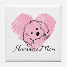 KiniArt Havanese Mom Tile Coaster