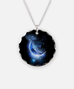 Awesome moon and stars Necklace