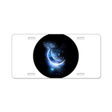 Awesome moon and stars Aluminum License Plate