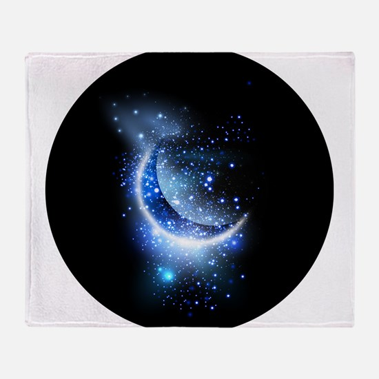 Awesome moon and stars Throw Blanket