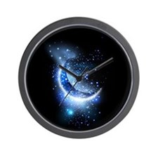 Awesome moon and stars Wall Clock