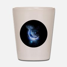 Awesome moon and stars Shot Glass