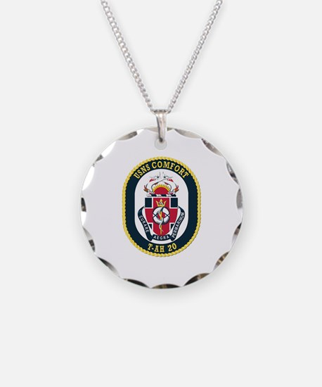 USNS Comfort (T-AH 20) witho Necklace Circle Charm