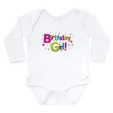 Cute Girl birthday Long Sleeve Infant Bodysuit