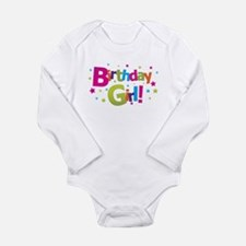 Cute Birthday girl Long Sleeve Infant Bodysuit