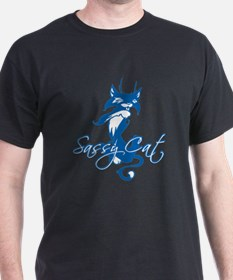 Blue Sassy Cat T-Shirt