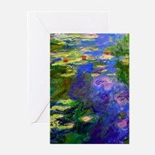 Cool Monet water lilies Greeting Cards (Pk of 10)