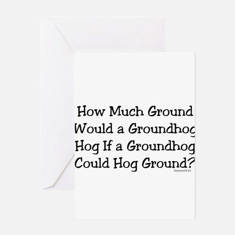 Cute Hog Greeting Card