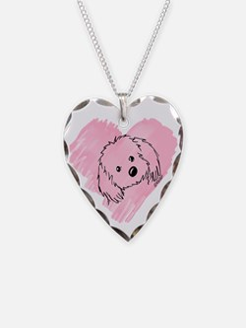 KiniArt Havanese Heart Necklace
