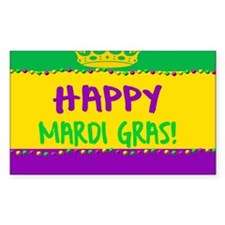 Happy Mardi Gras Crown and Beads Decal
