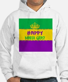 Happy Mardi Gras Crown and Beads Hoodie