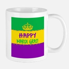 Happy Mardi Gras Crown and Beads Mugs