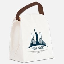 Cute Queens new york Canvas Lunch Bag