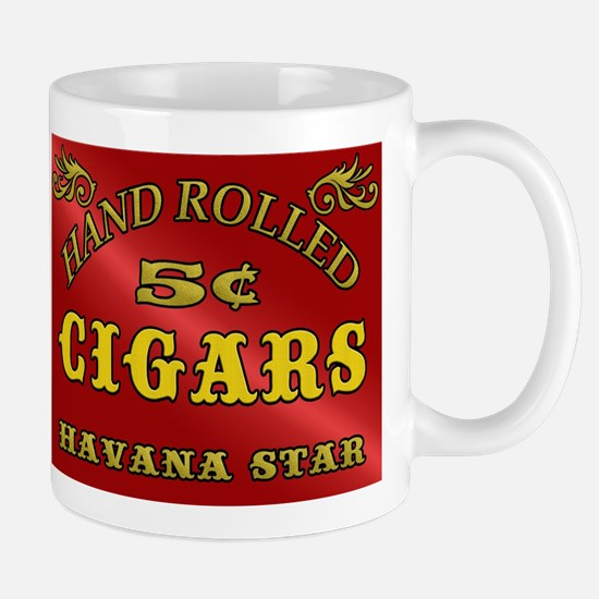 Vintage style Cigar Sign Mugs