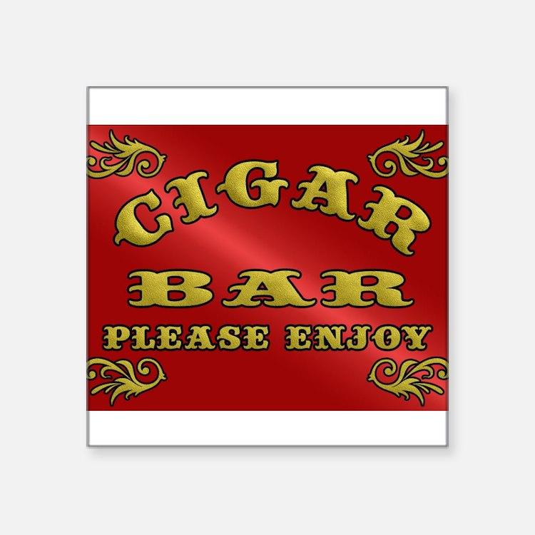 Vintage CIGAR BAR style sign Sticker