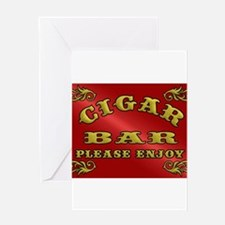 Vintage CIGAR BAR style sign Greeting Cards