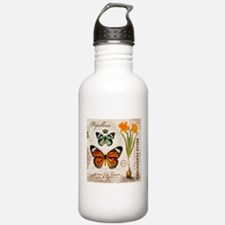 VINTAGE FRENCH BUTTERFLIES Water Bottle