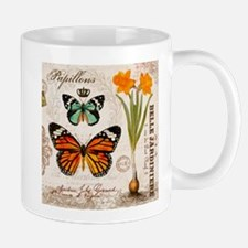 VINTAGE FRENCH BUTTERFLIES Mugs