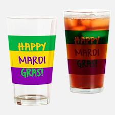 Happy Mardi Gras purple green gold Drinking Glass