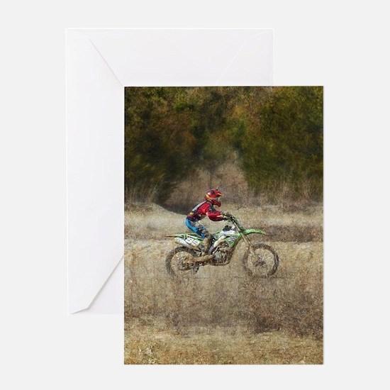 Dirt Bike Riding Greeting Cards