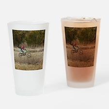 Dirt Bike Riding Drinking Glass