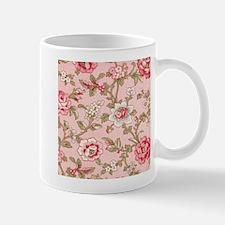 ROSE PRINT ON PINK FABRIC SHABBY CHIC Mugs