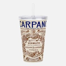 Vintage Carpano Vermuth Label Acrylic Double-wall