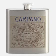 Vintage Carpano Vermuth Label Flask
