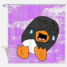 Cute Purple penguin Shower Curtain