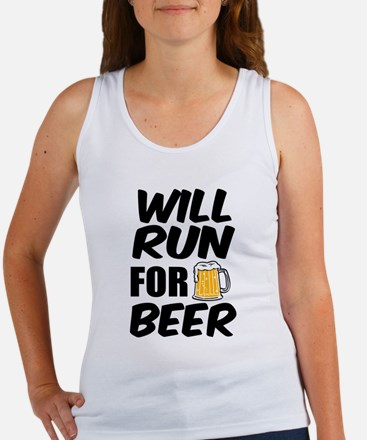 Will Run for Beer funny Tank Top