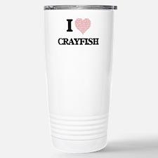 I love Crayfish (Heart Travel Mug