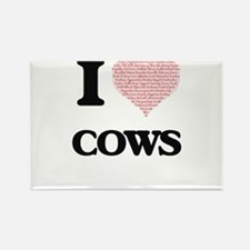 I love Cows (Heart Made from Words) Magnets